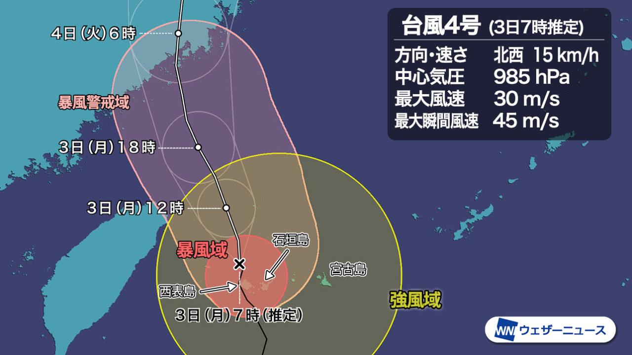 石垣島の2020年台風4号ハグピートの動画は?暴風がヤバすぎる!?